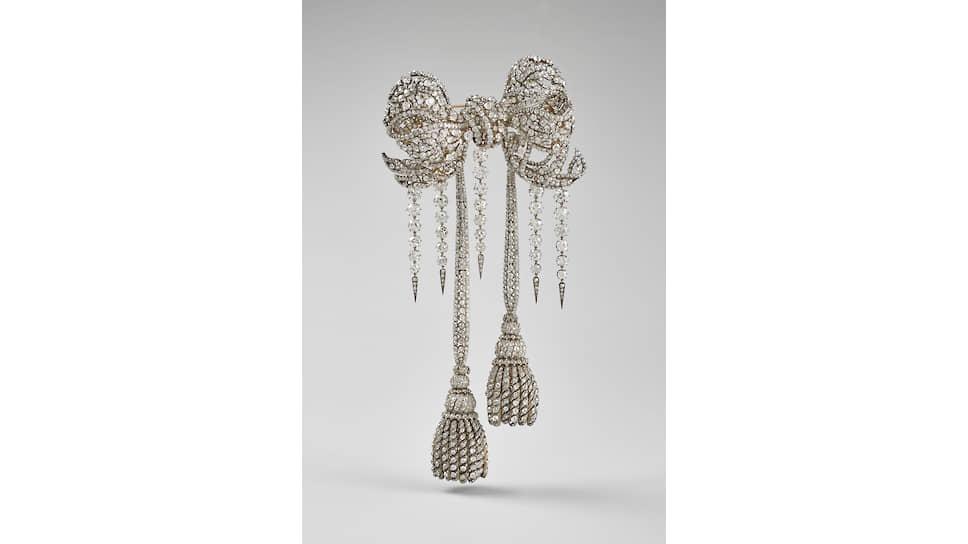 Корсажная брошь императрицы Евгении, серебро, золото бриллианты, 1855–1864 годы