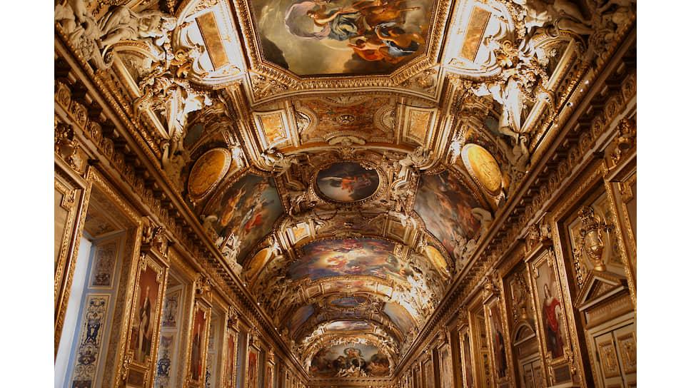 Потолок галереи Аполлона, роспись Кристиана Делакруа, 1851 год