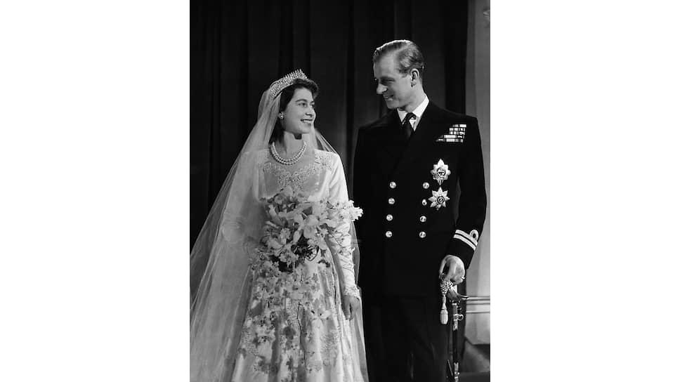 Свадьба будущей королевы Елизаветы II и принца Филиппа, 20 ноября 1947 года