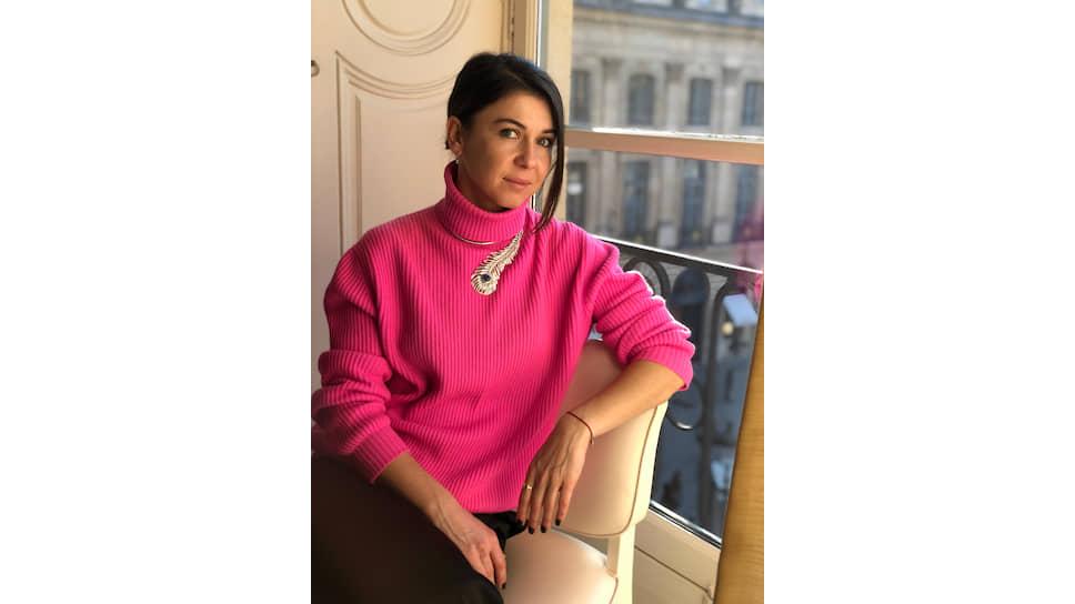 Екатерина Зиборова в колье Boucheron