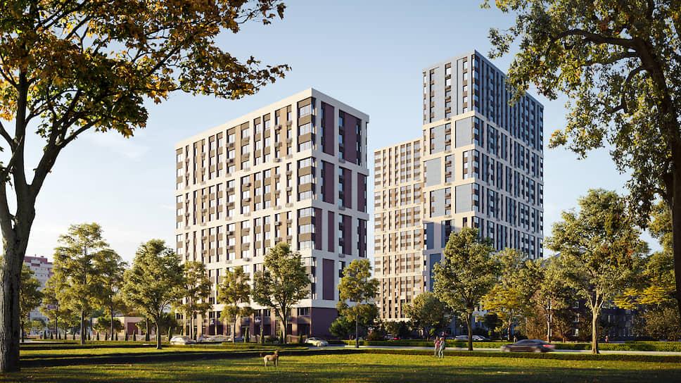 Вид на жилой комплекс «Петровский парк»
