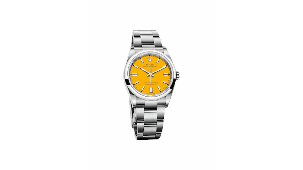Часы Rolex Oyster Perpetual 36 мм — с цветным циферблатом