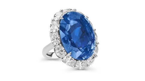 Каратность синего  / Кольцо Mercury