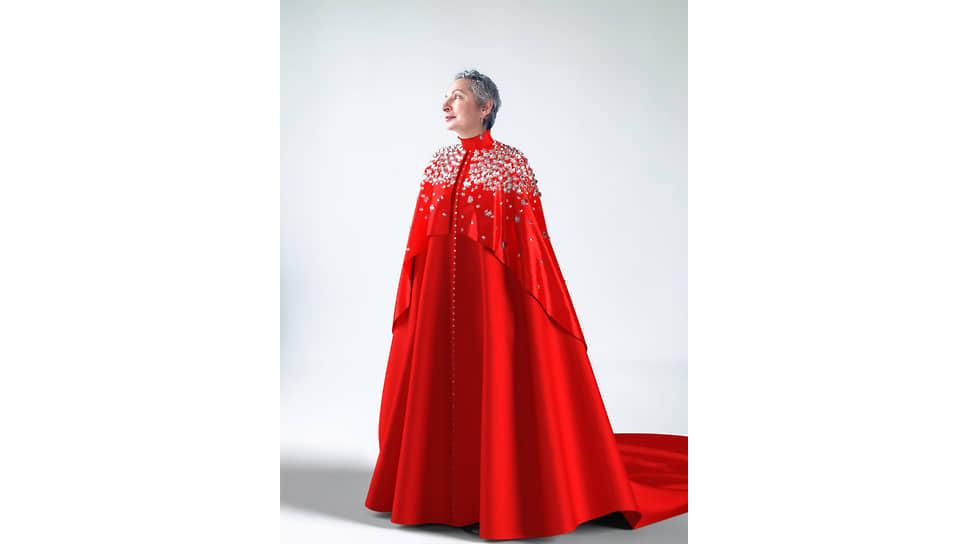 Людмила Норсоян в диджитал-платье  платье британского дизайнера Патрика Макдауэлла