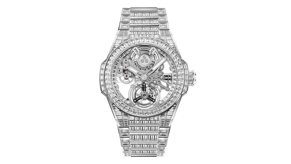 Hublot Big Bang Integral Tourbillon High Jewellery. Корпус из белого золота с бриллиантами