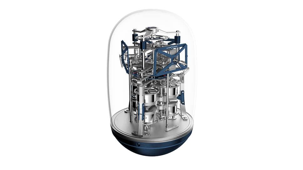 Ulysse Nardin UFO. Настольные часы с тремя часовыми зонами и годовым запасом хода. Современная версия морского хронометра XIX века