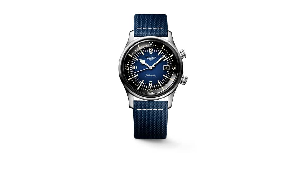 Longines, часы Legend Diver, 42 мм, сталь, механизм с автоматическим подзаводом, запас хода 64 часа, водонепроницаемость 300 м