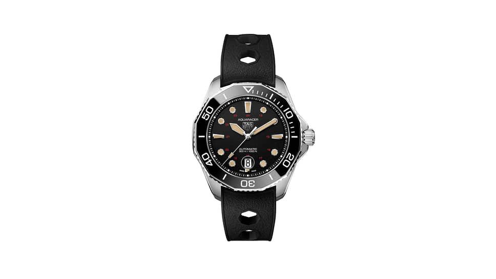 TAG Heuer, часы Aquaracer Professional 300 Tribute to Ref.844, 43 мм, титан, механизм с автоматическим подзаводом, запас хода 38 часов, водонепроницаемость 300 м