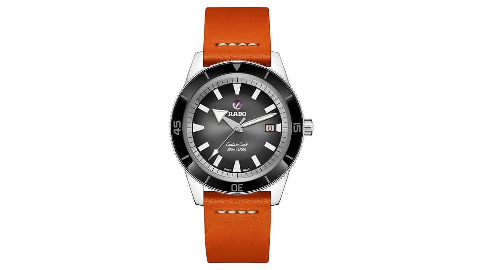 Rado, часы Captain Cook Automatic, 42 мм, сталь, керамика, механизм с автоматическим подзаводом, запас хода 80 часов, водонепроницаемость 300 м