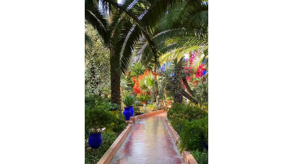 Один из садов Марракеша