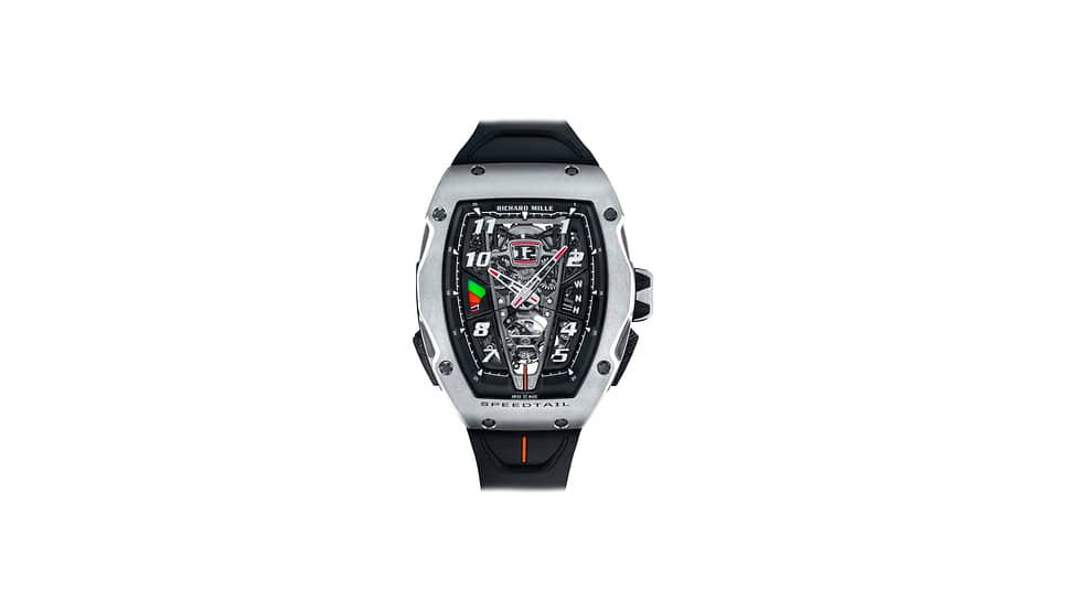 Richard Mille, часы RM 40-01 Automatic Tourbillon McLaren Speedtail, 41,8х48,25мм, титан, механизм с автоматическим подзаводом