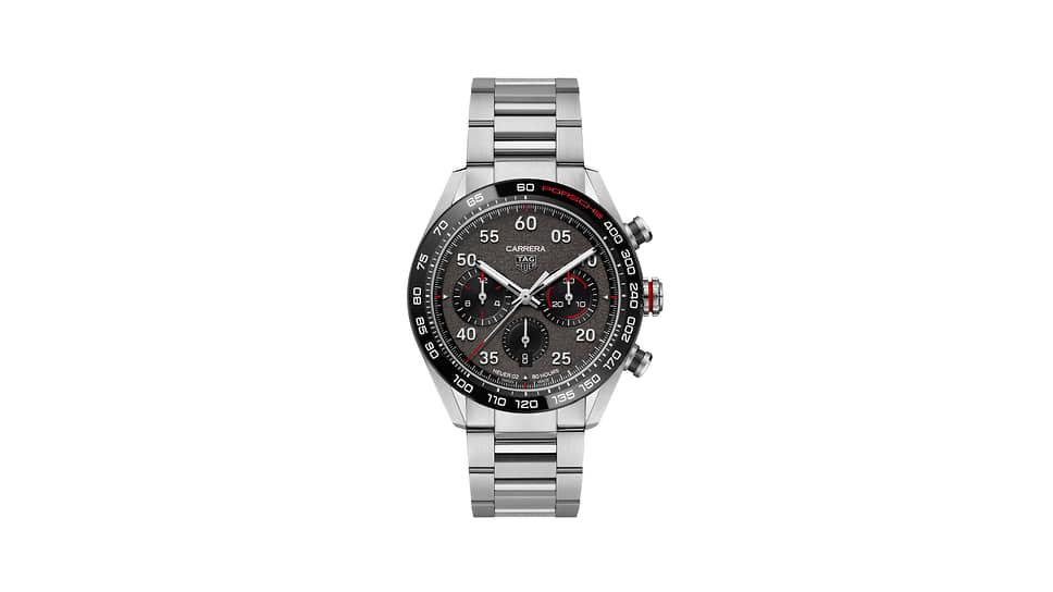 TAG Heuer, часы Carrera Porsche Chronograph Special Edition, 44мм, сталь, механизм с автоматическим подзаводом