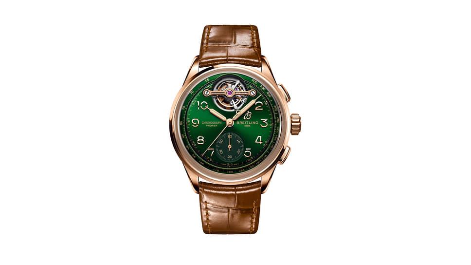 Breitling, часы Premier B21 Chronograph Tourbillon42 Bentley Limited Edition, 42мм, красное золото, механизм с автоматическим подзаводом