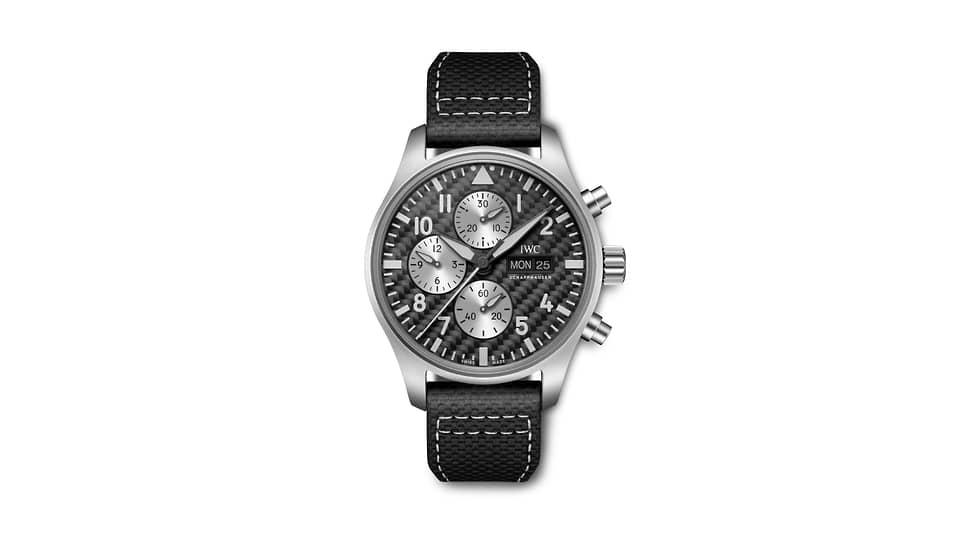 IWC, часы Pilot's Watch Chronograph Edition «AMG», 43мм, титан, механизм с автоматическим подзаводом