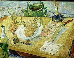 «Натюрморт с тарелкой лука», начало января 1889 года