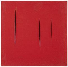 Лючио Фонтана. «Пространственный концепт. В ожидании», 1959 год. Christie's, эстимейт £350–500 тыс.
