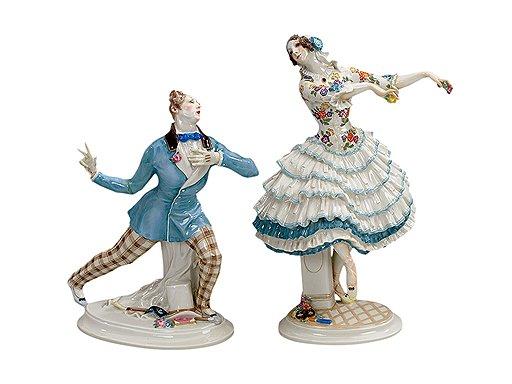 Персонажи из балета «Карнавал» в постановке Михаила Фокина. Паул Шойрих, 1914 год