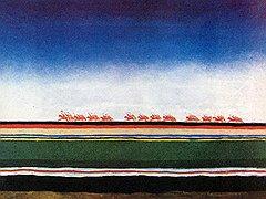 Казимир Малевич. «Скачет красная конница», 1928–1932 годы