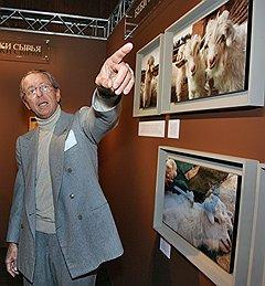 Президент компании Loro Piana Серджо Лоро Пьяна на презентации книги «Baby Cashmere. The Long Journey of Excellence» в «Барвиха Hotel & Spa»