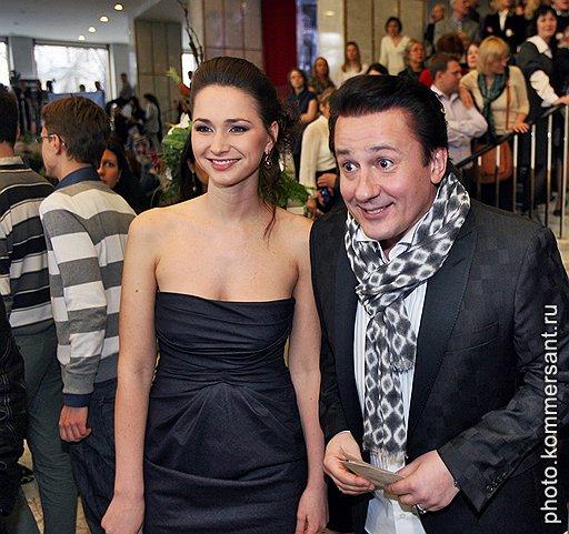 Актер Олег Меньшиков с супругой