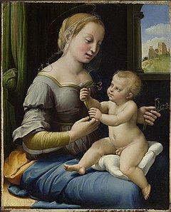 Рафаэль. «Мадонна с гвоздиками», 1506–1507 годы.