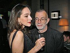 Управляющий редактор Esquire Мария Липкович и поэт Лев Рубинштейн на вечеринке, посвященной перезапуску Openspace.ru