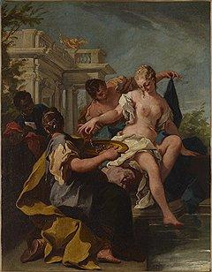 Джованни Баттиста Питтони. «Давид и Вирсавия», первая половина XVIII века. Галерея Maison d'Art