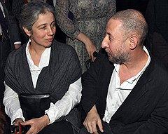 Архитектор и художник Александр Бродский с женой Марией на церемонии вручения премии Кандинского в ЦДХ