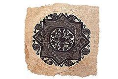 Фрагмент шали, IV–V вв. Лен, шерсть, полотняное переплетение, гобелен, летящая игла