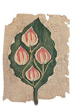 Фрагмент завесы, V–VI вв. Лен, шерсть, полотняное переплетение, гобелен