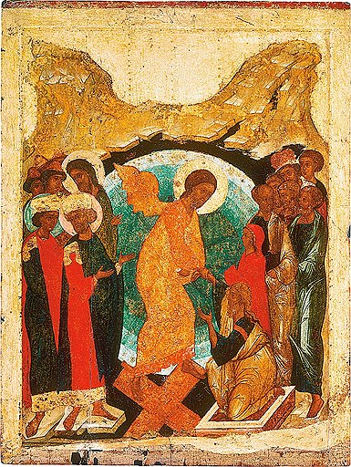 «Воскрешение — Сошествие во Ад», 1408–1410-е годы. ГТГ