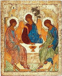«Святая Троица», 1408–1425 годы. ГТГ