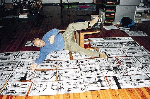 Зигмар Польке в своем кельнском ателье, 2000год