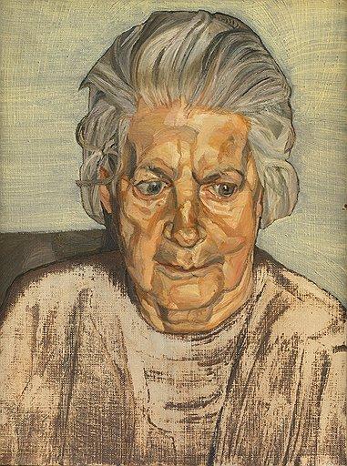 """Люсьен Фрейд. """"Портрет матери"""", 1973 год. Холст, масло. Galerie Daniel Blau"""