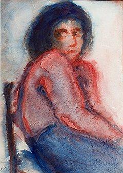 """""""В красном. Женский портрет"""", 1966 год"""