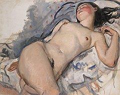 """Зинаида Серебрякова. """"Лежащая обнаженная"""", 1920-е годы. Эстимейт £600-800 тыс."""