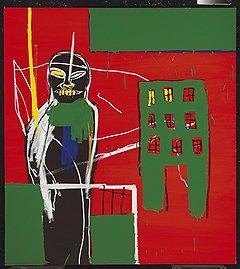 """Жан-Мишель Баскья. """"Пешеход 2"""", 1984 год. Christie's, эстимейт £1-1,5 млн"""