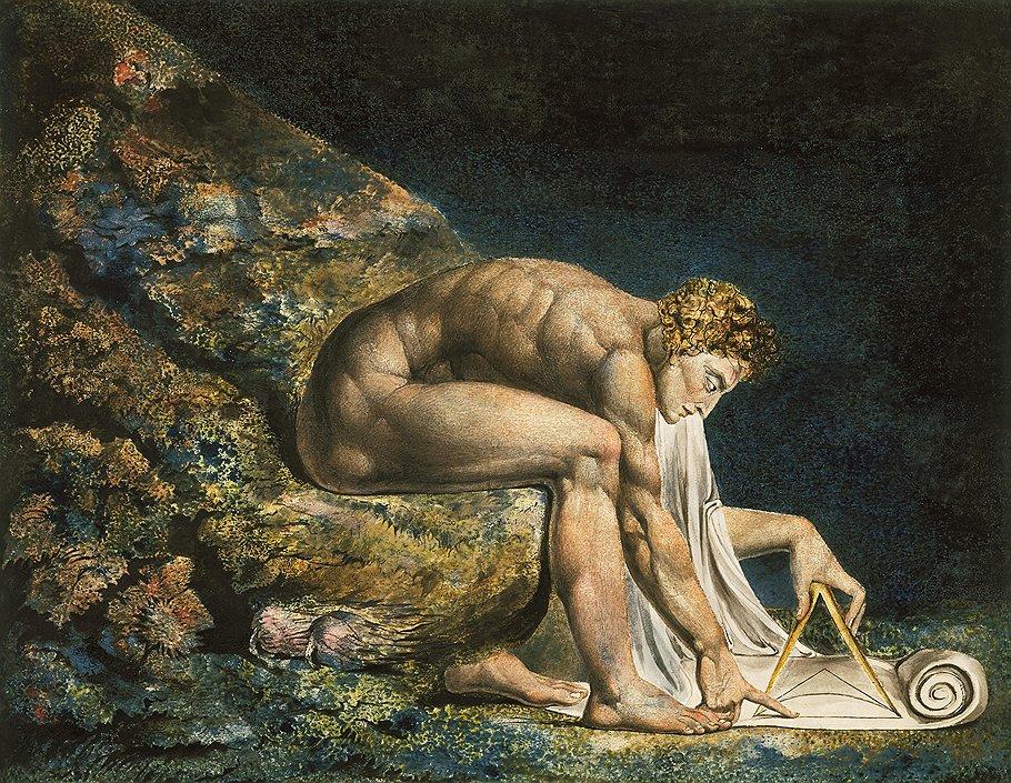 """Уильям Блейк. """"Ньютон"""", 1795 -- около 1805 года"""