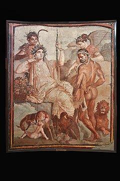Геракл и Телеф. Августеум, 69–70 годы. Фреска