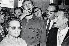 Фидель на выставке народного хозяйства СССР в Гаване. Куба, 1960