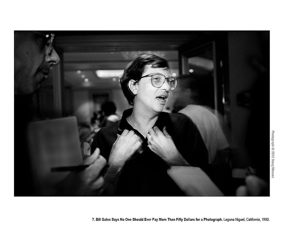 Билл Гейтс заявляет, что никто не должен платить больше $50 за фотографию. Лагуна Нигель, Калифорния, 1992 год. На конференции Agenda генеральный директор Microsoft Билл Гейтс рассказал репортерам о необходимости создания дешевых ресурсов для пользователей. Эта идея привела к созданию базы фотографий, которая изначально называлась Continuum, а затем была переименована в Corbis.