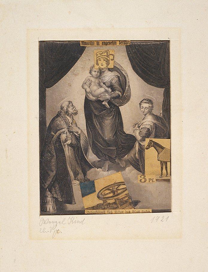 """Курт Швитерс. """"Мадонна с младенцем и лошадью"""", 1921 год"""
