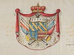 Герб семьи Гравина, конец XVIII века. Художественное собрание Ордена, Рим