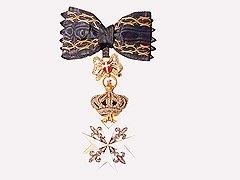 Знак ордена кавалерственной дамы Большого креста, конец XIX века. Художественное собрание Ордена, Рим
