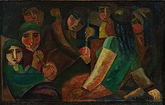 """Александр Волков. """"Узбекские дети в юрте"""", около 1928-1929 годов. Эстимейт £210-300 тыс."""