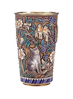 Стопа с эмалями, мастерская Павла Овчинникова, 1896, Bonhams, 15-20 тыс. евро