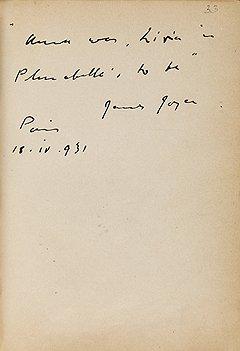 Джеймс Джойс, 1931 год