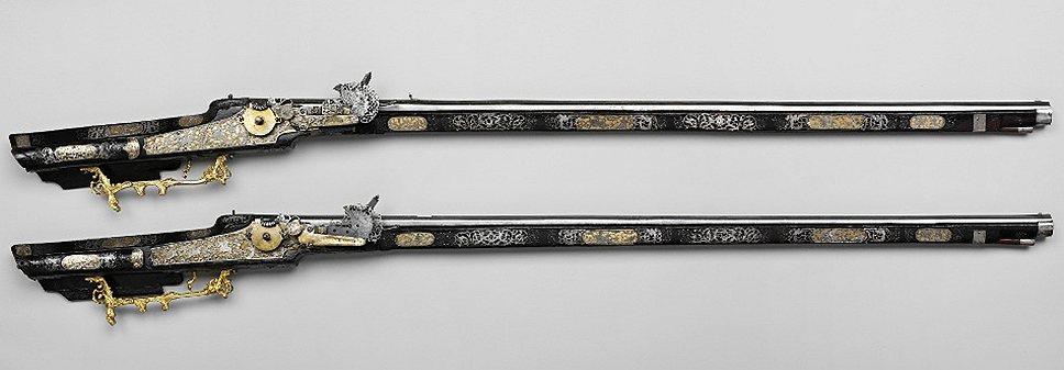 Аркебузы охотничьи с колесными замками, Германия, 1640-е годы