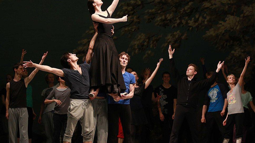 Репетиция балета «Пламя Парижа» в Михайловском театре