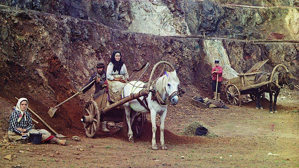 Работа на Бакальском руднике, 1910год